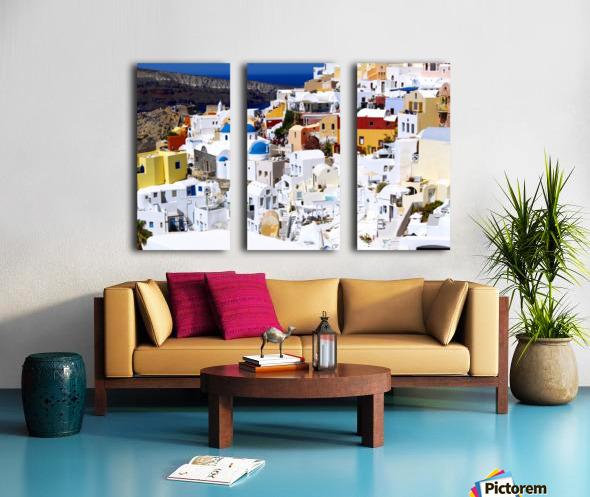 Colours of Santorini Split Canvas print