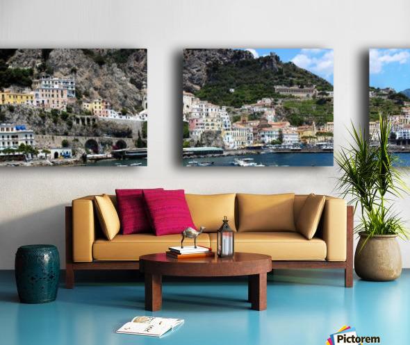 Super panoramic Amalfi City - Italy Split Canvas print