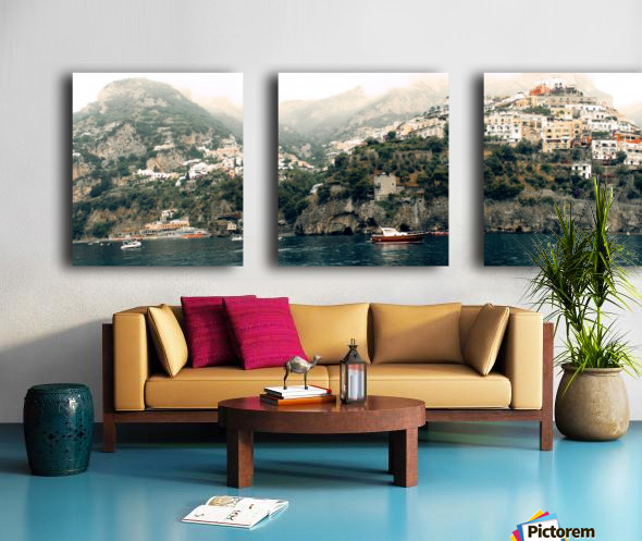 Panoramic Positano - Amalfi Coast - Italy Split Canvas print