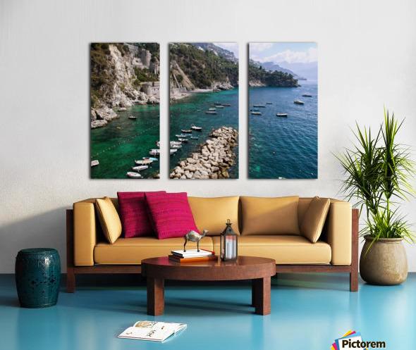 Amalfi Coast - Conca dei Marini Beach - Italy Split Canvas print