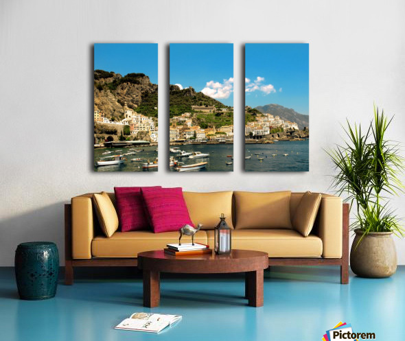 Amalfi Town - Panoramic View - Italy Split Canvas print