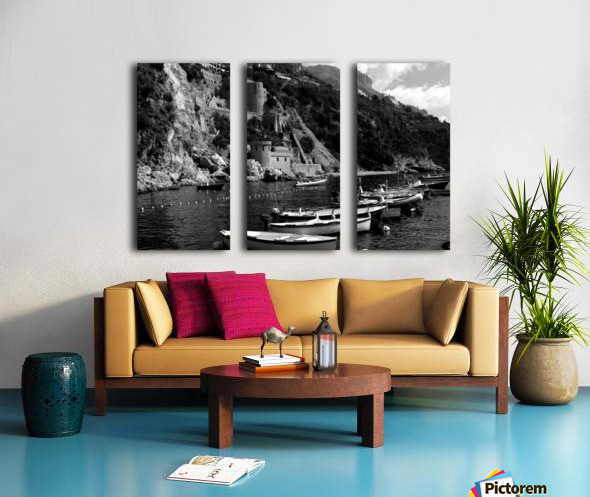 Beautiful View of Amalfi Coast Beach - Italy Split Canvas print