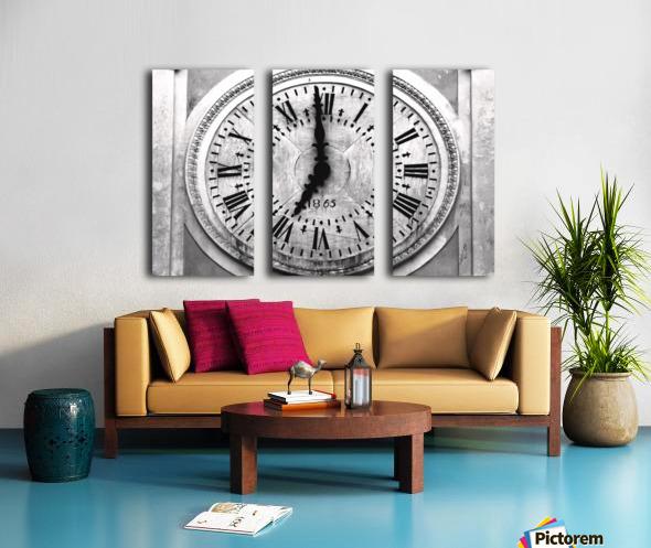 The Old Church Clock Split Canvas print