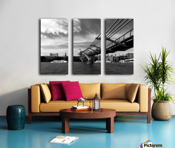 London Skyline -St Pauls Cathedral Split Canvas print