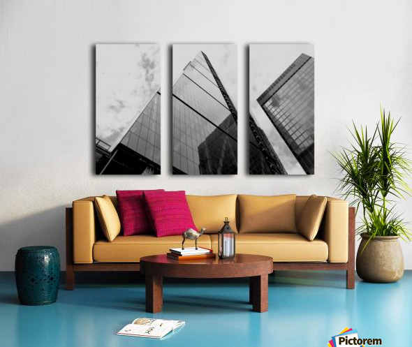 London Skyscraper III - Black and White Split Canvas print