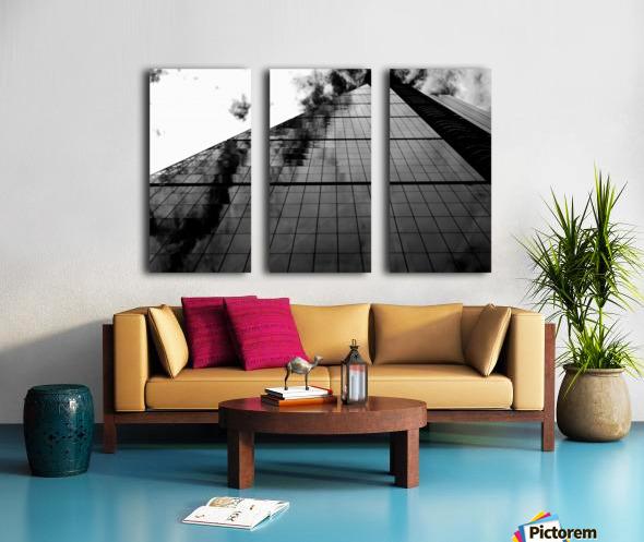 London Skyscraper II - Black and White Split Canvas print