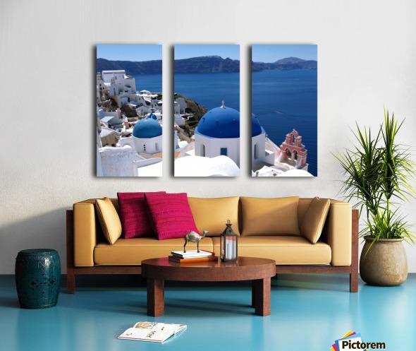 Amazing Santorini Landscape  Split Canvas print