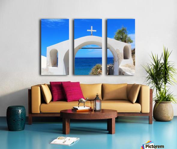 The Arch - Santorini Island Split Canvas print