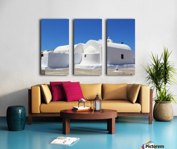 White Church -Santorini Island -  Greece Split Canvas print