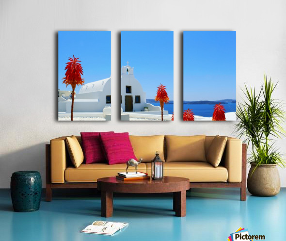 Santorini Island Landscape - Greece Split Canvas print