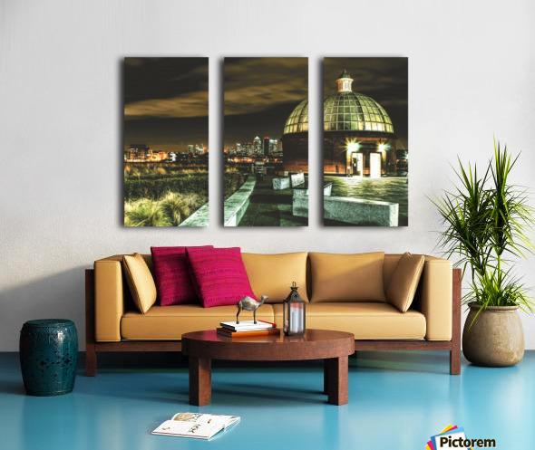 London Night skyline  Split Canvas print