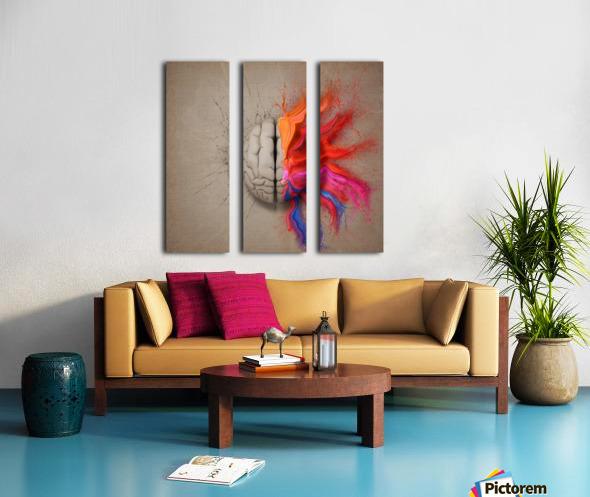 The Creative Brain Split Canvas print
