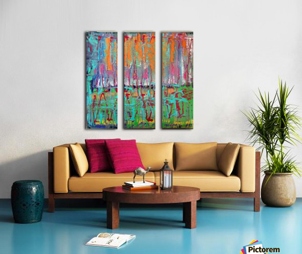 Three Ring Circus a Colorful Abstract Painting Split Canvas print