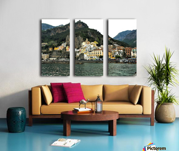 Italian Village Landscape - Amalfi Split Canvas print