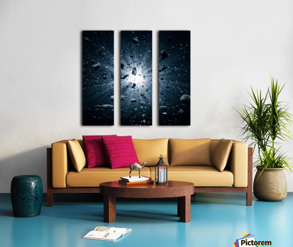 Big Bang explosion in space Split Canvas print