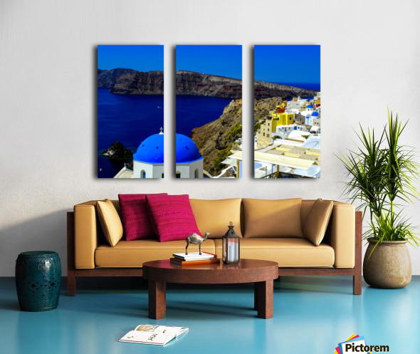 Santorini  - Super Colorful Landscape Split Canvas print