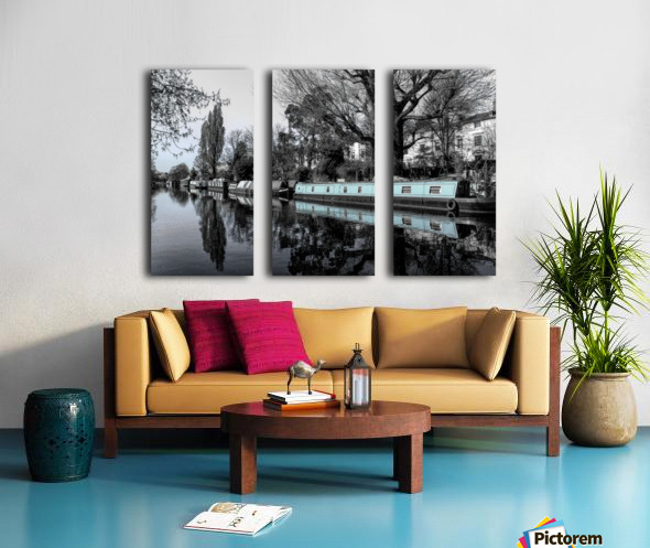 River and boats Split Canvas print