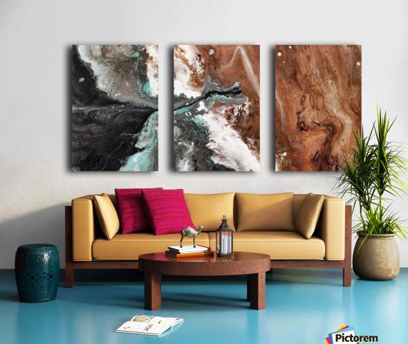 Oilspill Split Canvas print