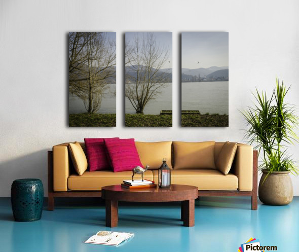 Spring at the River  Split Canvas print