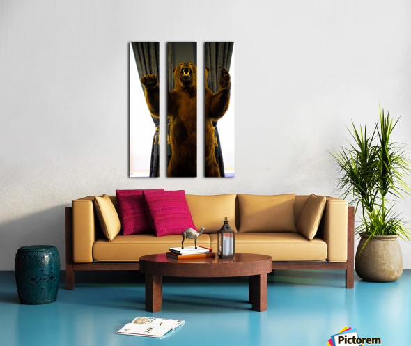 Bear Split Canvas print