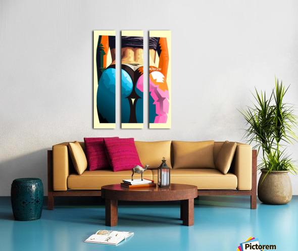 Sky Blue Orange Split Canvas print