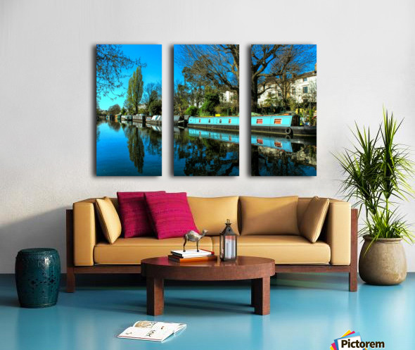River and Boats - London  Split Canvas print