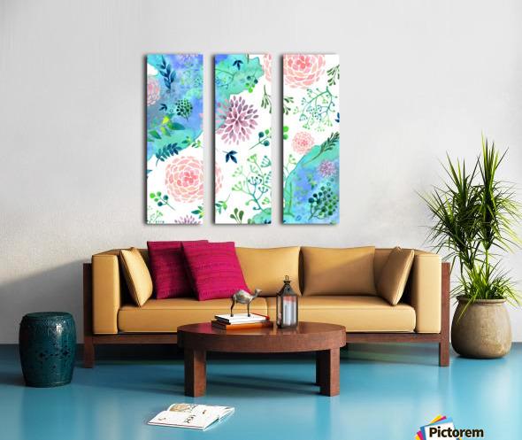 flower and blue agate Split Canvas print