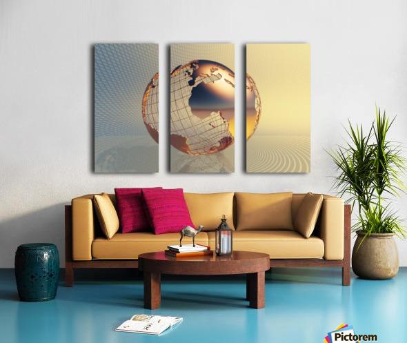 World global business background Split Canvas print