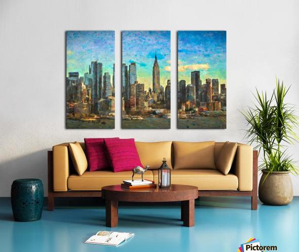 New York Skyline Split Canvas print
