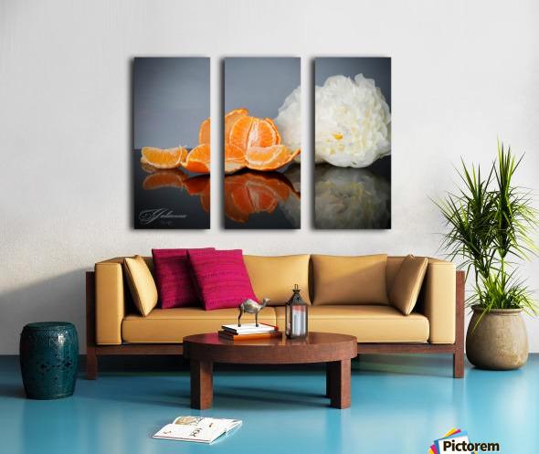 Orange sparkle  Split Canvas print