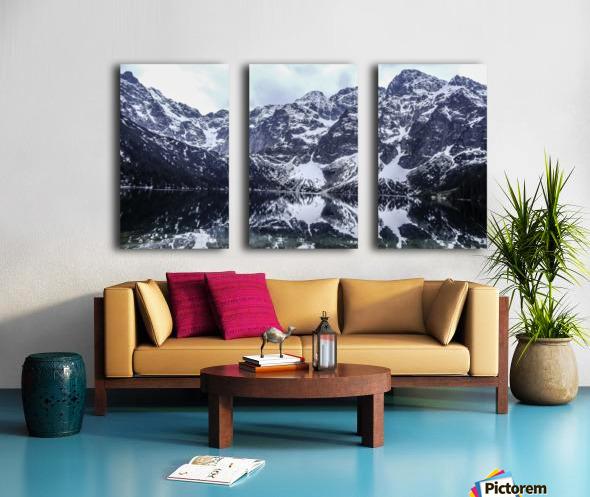 Mountains in the Lake Split Canvas print