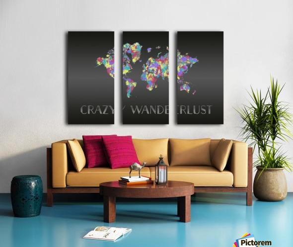 Graphic Art CRAZY WANDERLUST   Splashes Split Canvas print