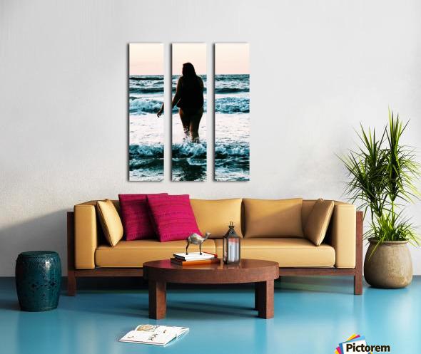 blue sea Split Canvas print