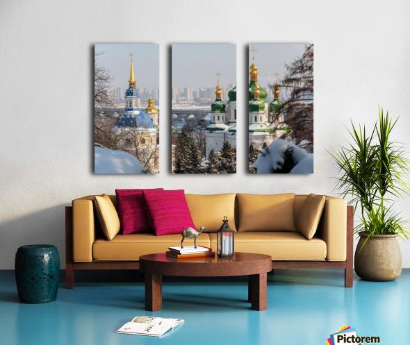 Vydubitskii Monastery in Kyiv Split Canvas print