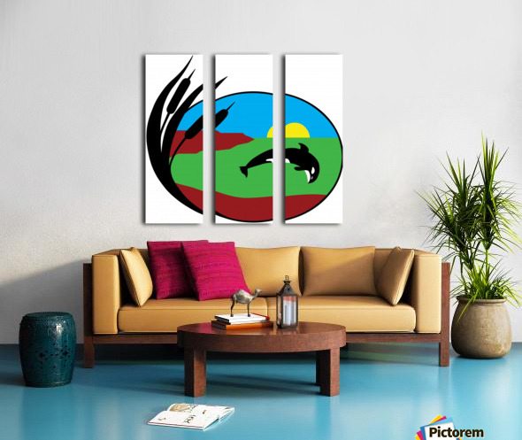 Whales Just Want To Have Fun Split Canvas print