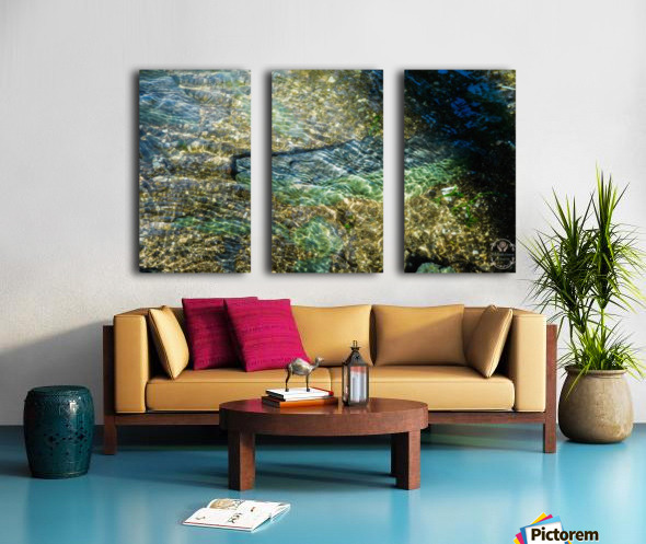 Lake Crystal Split Canvas print
