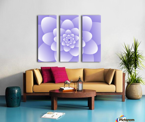 Purple Floral Spiral Artwork Split Canvas print