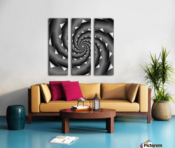 3d Abstract Spiral Design Split Canvas print