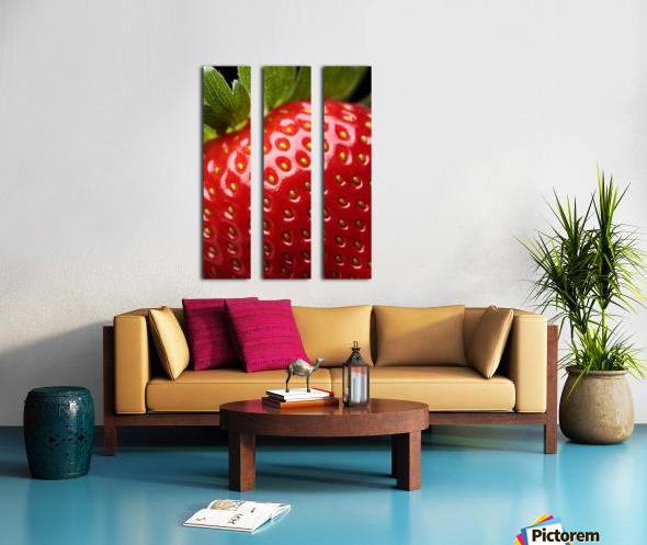 Fresh strawberry close-up Split Canvas print