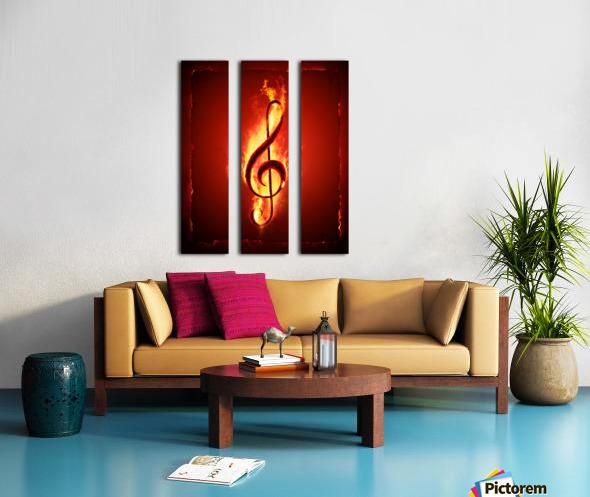 Hot Music Split Canvas print