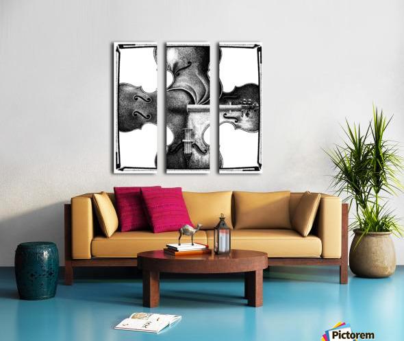 Discord Split Canvas print