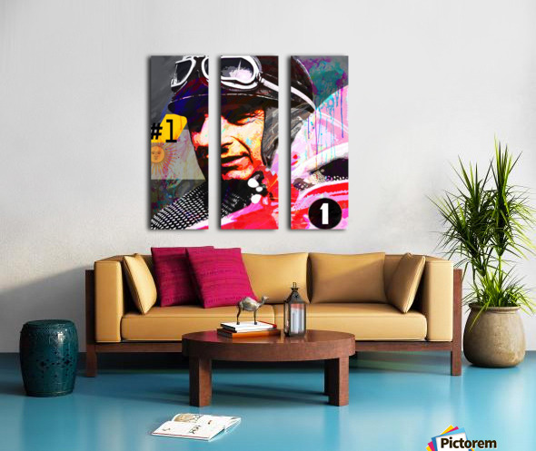 Fangio Split Canvas print