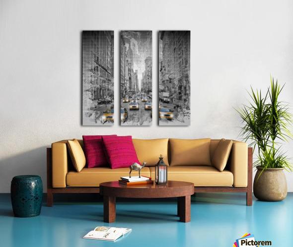 Graphic Art NEW YORK CITY 5th Avenue Traffic Split Canvas print