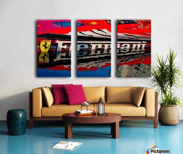 Ferrari Split Canvas print
