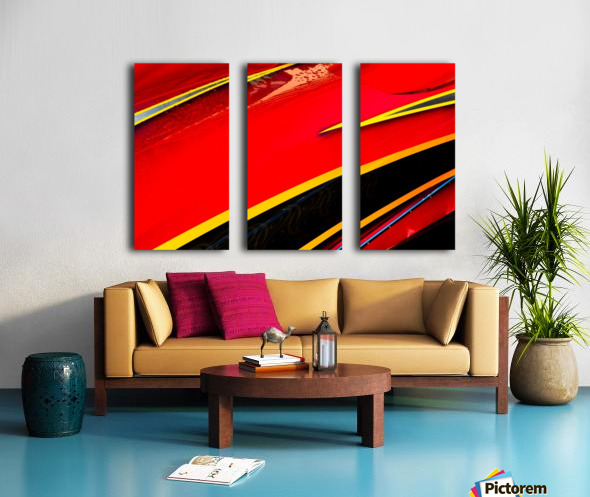 Angled Split Canvas print