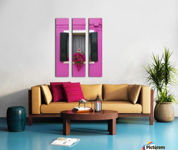 Colored window in Burano Split Canvas print