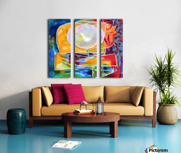 Moon Swoosh Split Canvas print
