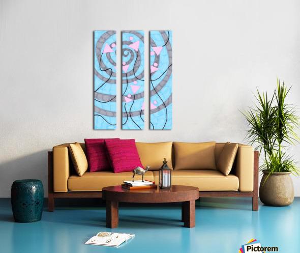 pinycocktaildaze. Split Canvas print