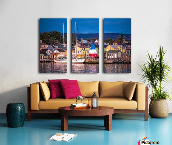 Cheticamp Waterfront Split Canvas print