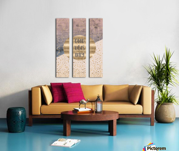 GRAPHIC ART Good vibes only Split Canvas print